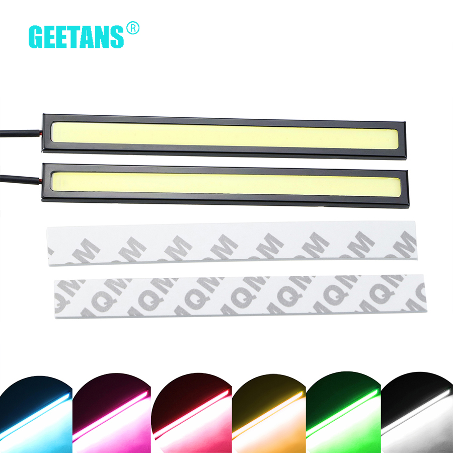 GEETANS 2Pcs 17cm COB LED DC12V Daytime Running <font><b>lights</b></font> led waterproof Auto Car Driving DRL LED lamp car styling G image
