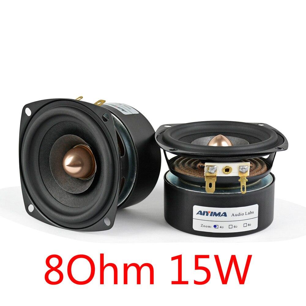"""2PCS 78mm 3/"""" inch 8Ohm 8Ω 2W Full Range Audio Speaker Stereo Woofer Loudspeaker"""