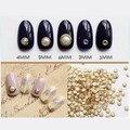 10 Unids/set Mini Perla Borde Metálico Espárragos Uñas Encanto 3D Decoración Del Arte Del Clavo