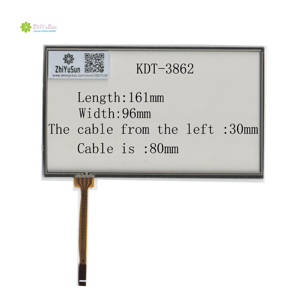 ZhiYuSun KDT-3862 7inch 4 Line Touch Screen Panel 161mm*96mm TouchSensor FreeShipping Wdth 96mm Length161mm