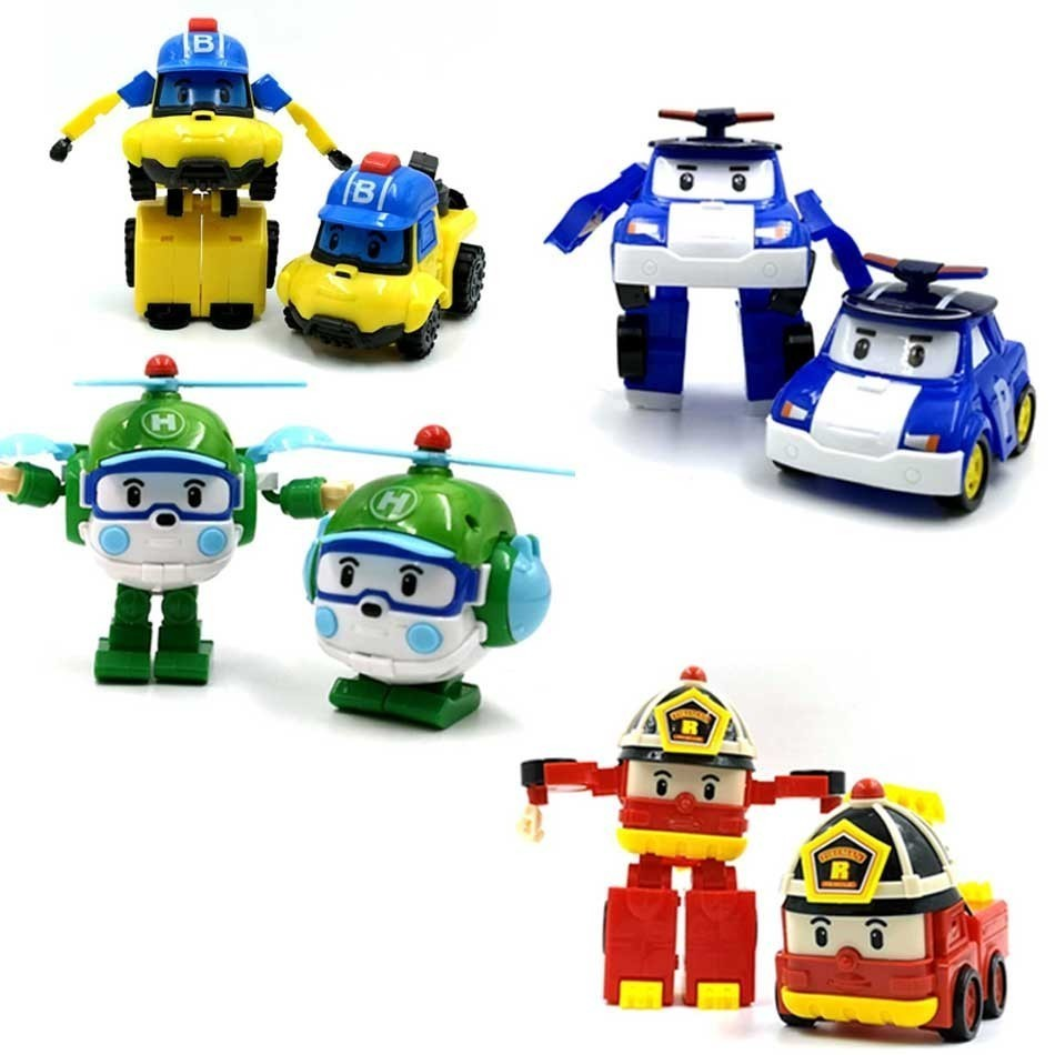 Robot Car Transformation Poly-Toys Acion-Figure Korea Children Poli Gift High-Quality