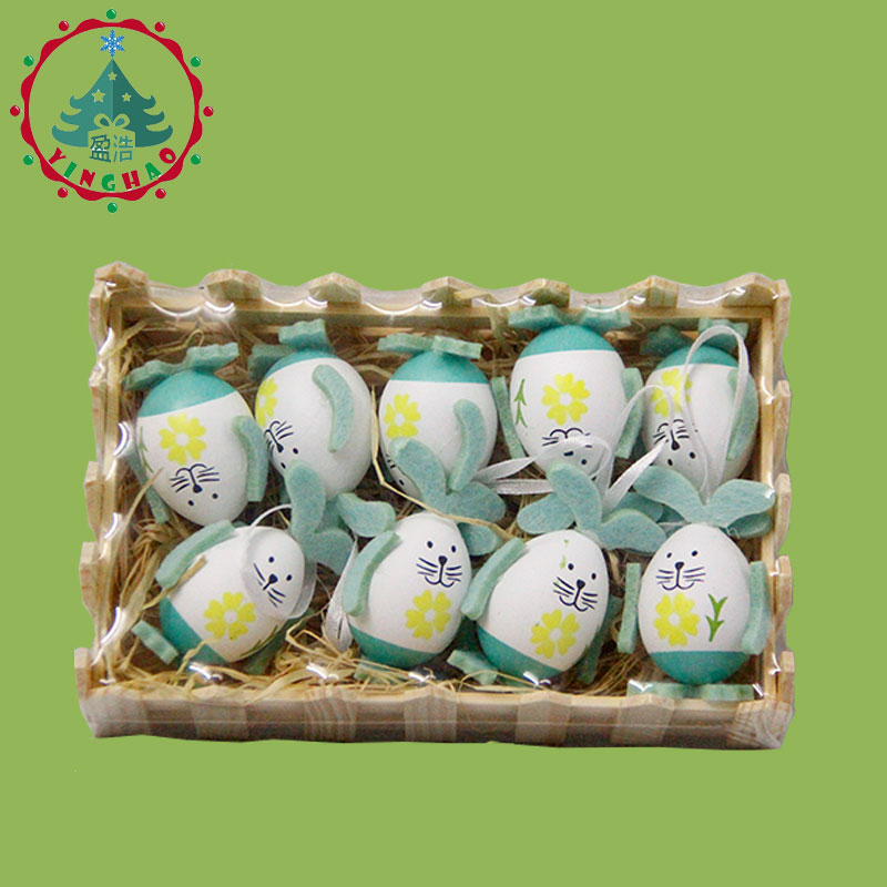inhoo 9pcs Easter Eggs Rabbit Gift Desktop Ornament Easter Decor - Feestversiering en feestartikelen - Foto 5