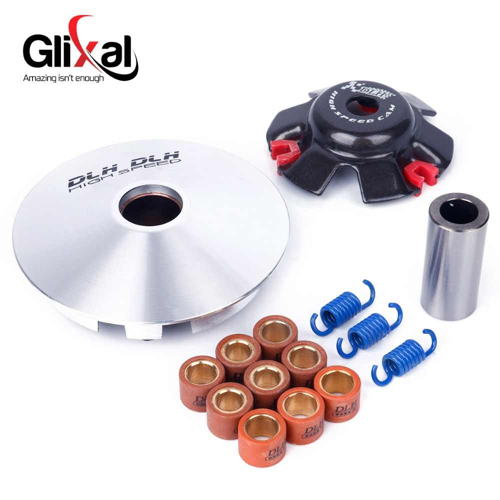 GY6 125cc 150cc High Performance Racing DLH Variator Kit dengan Roller Beban Mengemudi Pulley untuk 152QMI 157QMJ Skuter Moped
