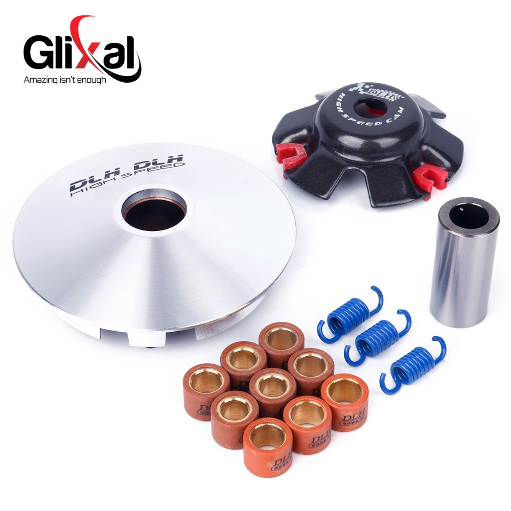 GY6 125cc 150cc High Performance Racing DLH Variator Kit with Roller Weights Driving Pulley for 152QMI 157QMJ Scooter Moped