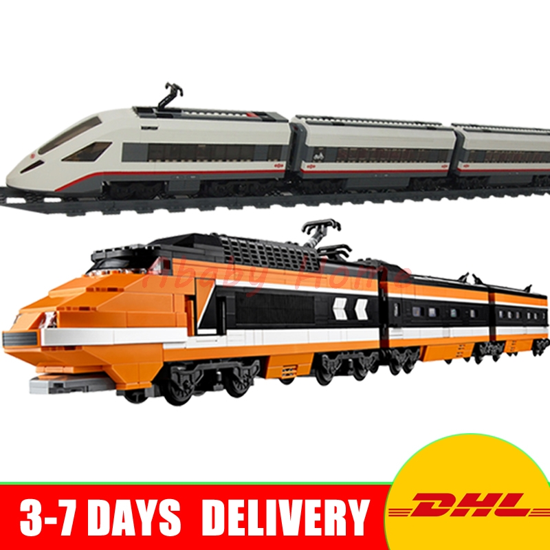 LEPIN 21007 The Horizon Train + 02010 High-speed Passenger Train Technic Series Model Building Kits Block Bricks 10233 60051 lepin 02010 610pcs city series building blocks rc high speed passenger train education bricks toys for children christmas gifts