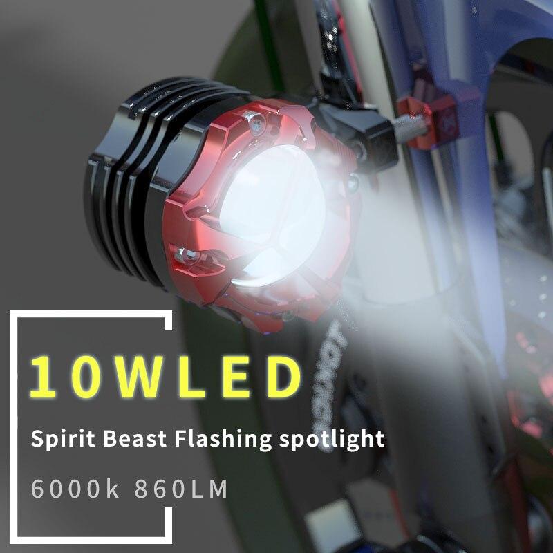 Motocross A MENÉ le projecteur moto modification accessoires 10 w lentille projecteurs lumières de voiture externe clignotant lumières auxiliaires