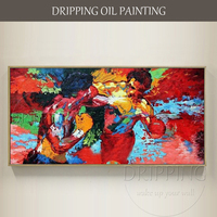 New Arrival Hand Painted Match Boxing Figures Oil Painting On Canvas Abstract Boxer Muhammad Ali Oil