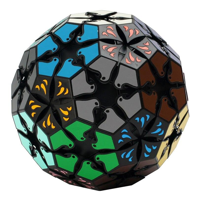 YKLWorld Cube magique noir 32 Faces Football Cubo Magico 3D tourtereaux en forme de Puzzle professionnel Cube jouet éducatif cadeau (S5