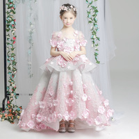 Baby Mommy Dress Matching Mother Daughter Clothes Mom and Daughter Wedding Dress Like Mom Like Daughter Pink Flower Floral Dress