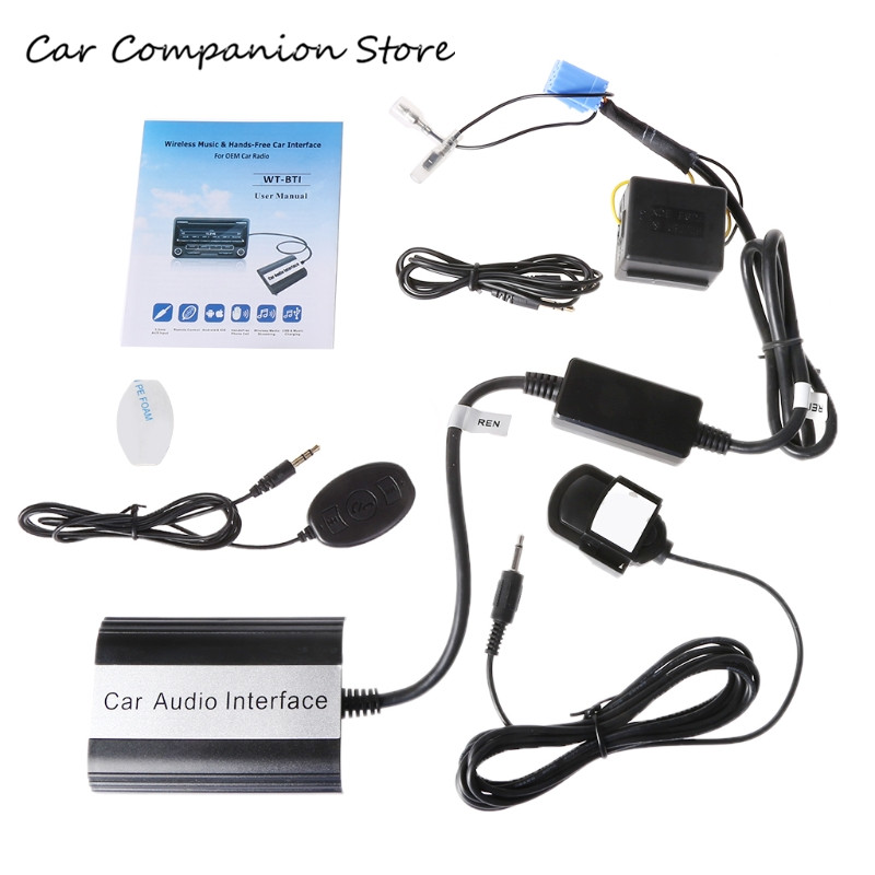 Kit mains libres Bluetooth auto Interface adaptateur MP3 AUX pour Renault Megane Clio
