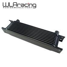 WLR RACING- стильный алюминиевый Универсальный 10 рядный двигатель коробка передач AN10 Масляный Радиатор Черный WLR7010-2BK