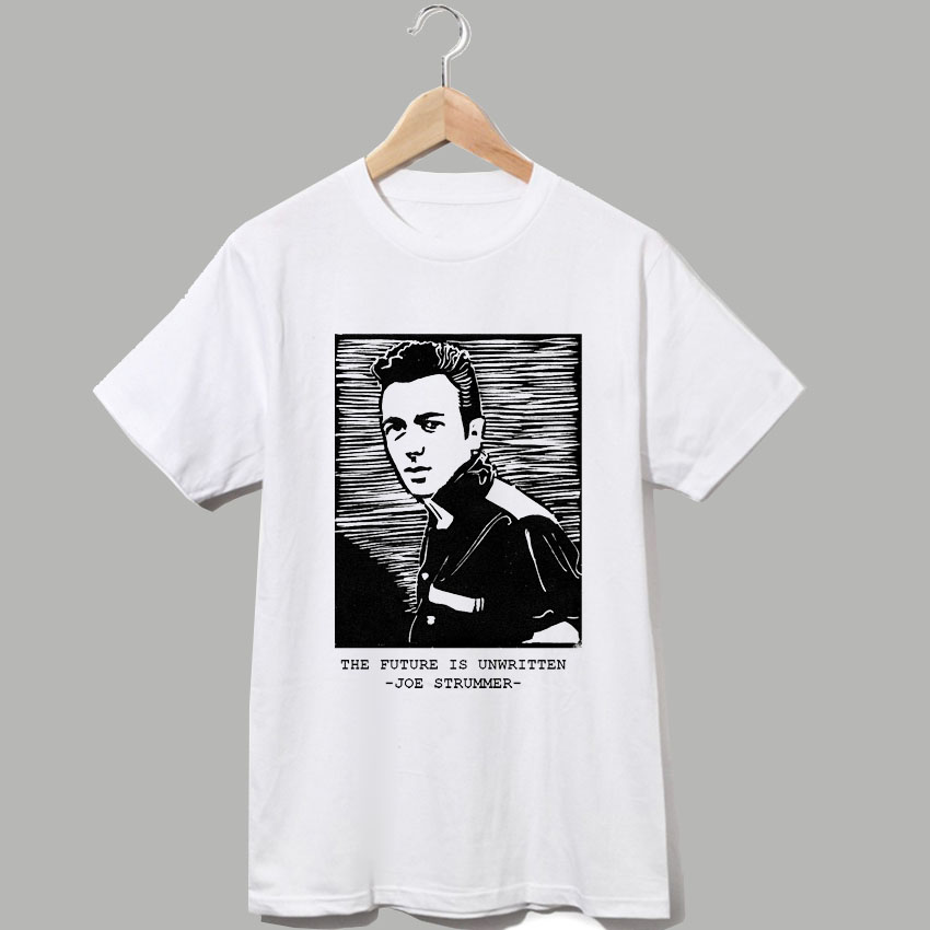 The clash joe strummer london is burning punk rock t shirt casual style