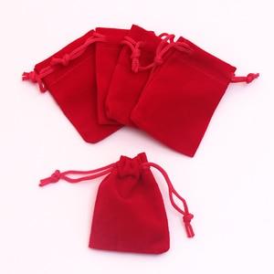 Image 5 - 100pcs/lot Gray Velvet Bag 5x7cm Mini Jewelry Bag Favor Charms Jewelry Packaging Bags Wedding Velvet Drawstring Pouch Gift Bag