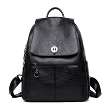 Women's Backpack Female Leather Backpack Women Fashion Shoulder Bag Ladies Bagpack School Bags for Girls Travel Back Pack стоимость