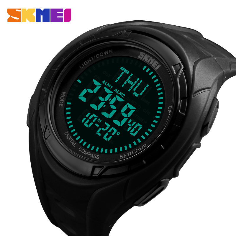 Watches Skmei 1290 Brand Mens Sports Watches 5atm Digital Outdoor Men Military Watch El Backlight Compass Wristwatches Reloj Hombre 2019 Digital Watches