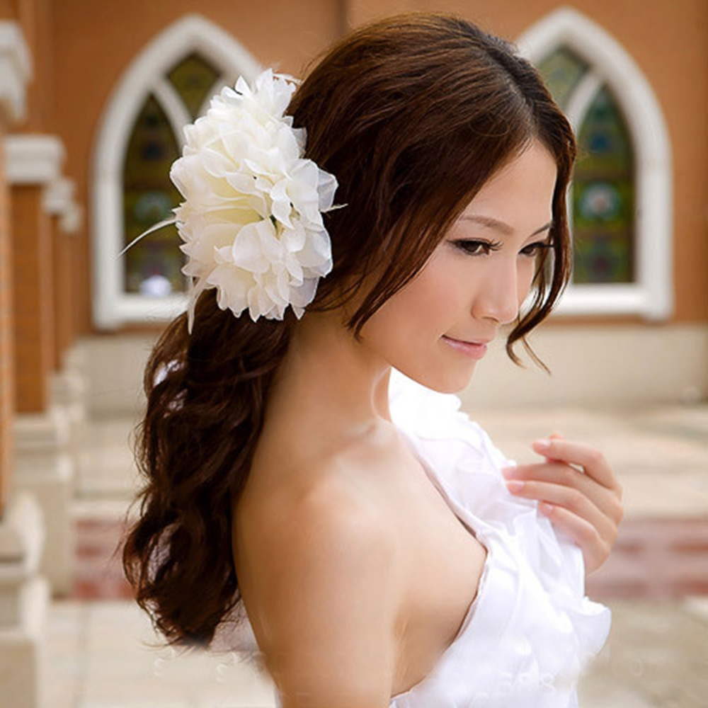 Oculosoak Hair Clip Decorative Head Flowers Handmade Wedding Wrist Flower Bride Bridesmaids Wrist Corsages Bridal Wrist Bouquets