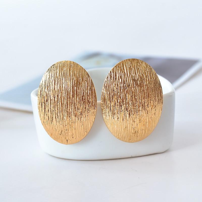 Nova ušesna sponka / pretirano modni prisrčni uhani elipse linije uhani ženska nakit festival festivala nakit