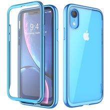 Für iPhone XR 6,1 zoll SUPCASE Fall UB Electro Volle Körper Klar Überzogene Glitter Slim Hybrid Abdeckung mit Eingebaute screen Protector