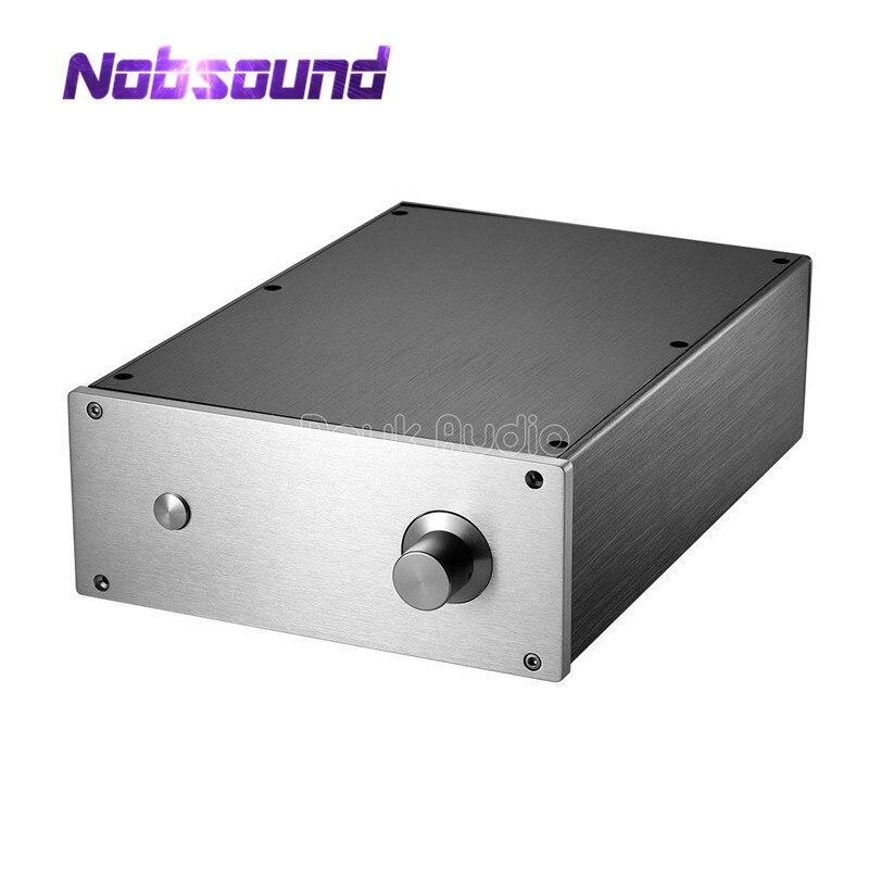Nobsound Built in Radiator Aluminum Case DIY Enclosure Power Amplifier Chassis Cabinet
