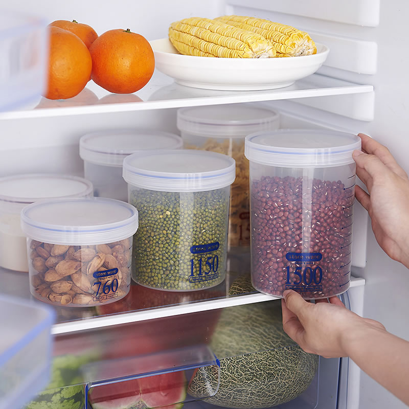 Kitchen Storage Containers Round With A Flat Transparent Sealed Storage Box  Crisper Kitchen Plastic Container Jars For Spices In Storage Bottles U0026 Jars  From ...