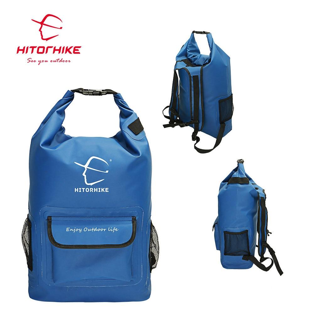25L Outdoor River Trekking Bag Dry Bag Double Shoulder Straps Water Pack Swimming Backpack Waterproof Bags for Drifting Kayaking
