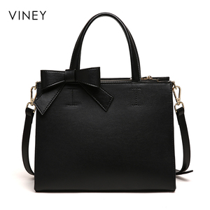 Image 3 - Viney Handbag Female 2019 New Red Small Black Bag Simple Leather Tide Leisure One Shoulder Slant Bag