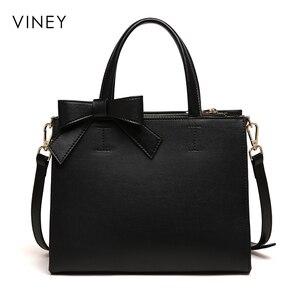 Image 3 - Женская сумка на одно плечо Viney, красная и черная простая кожаная сумка для отдыха, 2019
