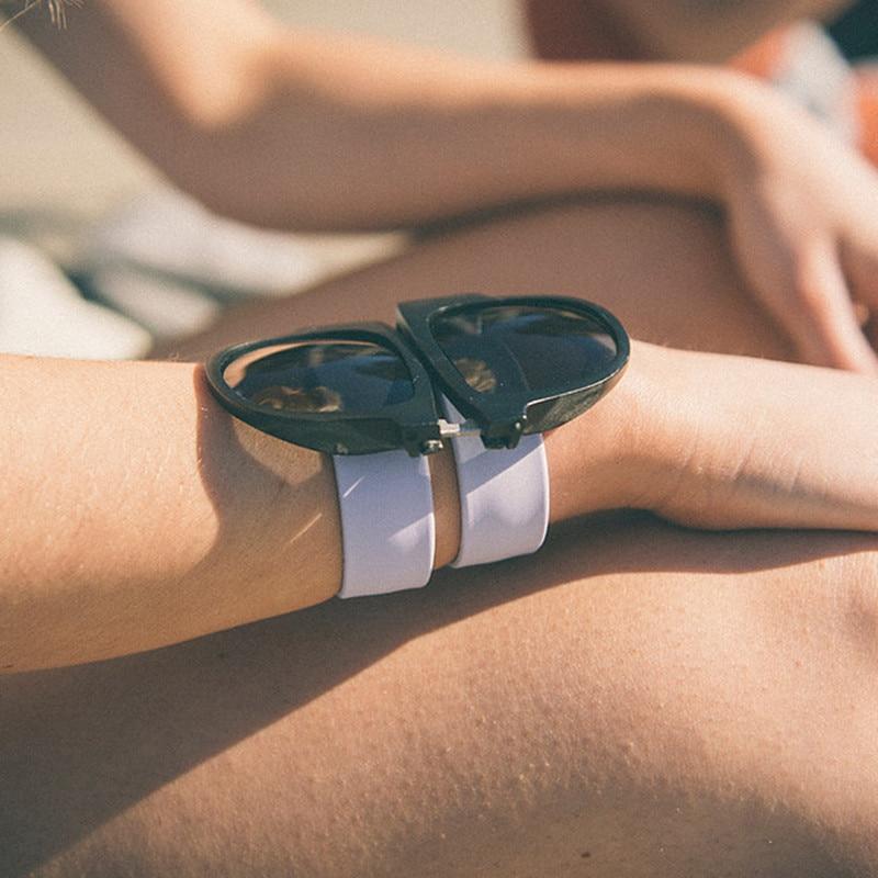 2016 Νέα μόδα Ευέλικτη Γυαλιά γυαλιά ηλίου αναδιπλούμενα Γυαλιά γυμναστικής Γυναικεία μόδα υψηλής ποιότητας Χαριτωμένα γυαλιά Ειδικά gafas de sol