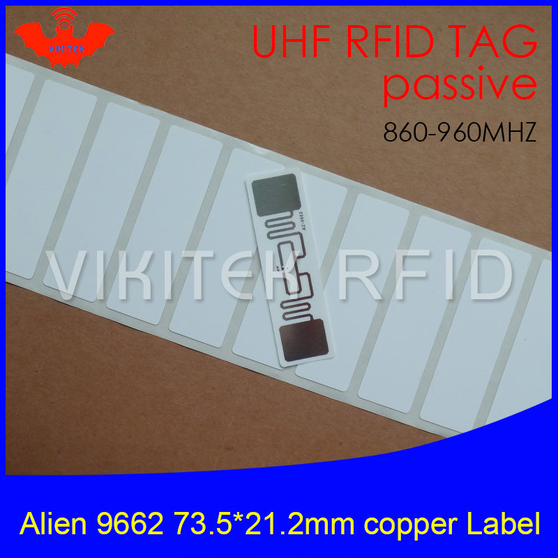 UHF RFID tag Alien 9662 printable copper paper label 915mhz 900mhz 868mhz 860-960MHZ Higgs3 EPC 6C adhesive passive RFID label rfid tire patch tag label long range surface adhesive paste rubber alien h3 uhf tire tag for vehicle access control