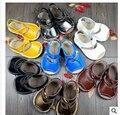 Nuevo Cuero Genuino de la Vaca sólido Bebé Mocasines lace up Zapatos de Bebé 2015 Recién Nacido firstwalker antideslizantes niños y niñas