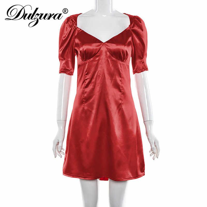 Dulzura 2019 летнее женское платье, сексуальное атласное шелковое вечернее платье, элегантные сексуальные красные платья, праздничные вечерние платья для девушек