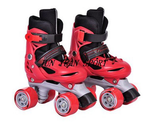 High qaulity font b Roller b font Skates Genuine Leather With Led Double Line Skates Child