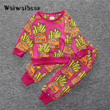 Infant Kids Clothing Sets  Autumn New  Long-sleeved T-shirt+Pants 2PCS Outfit Suit Baby Girls Boys Clothing Set Newborn Clothes купить недорого в Москве