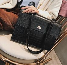 European Fashion Female Big Tote bag 2019 New Quality PU Leather Crocodile