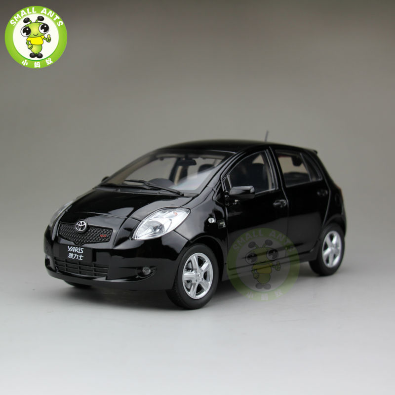 1 18 Toyota Yaris 2008 Diecast Car Model Black Color