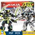 754 pcs bela 2016 novo 10399 ninja titan modelo batalha mech kit conjunto de blocos de construção ninja compatível com lego