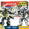 754pcs Bela 2016 new 10399 Ninja Titan Mech Battle Model Building Kit Blocks Set Ninja Compatible with Lego