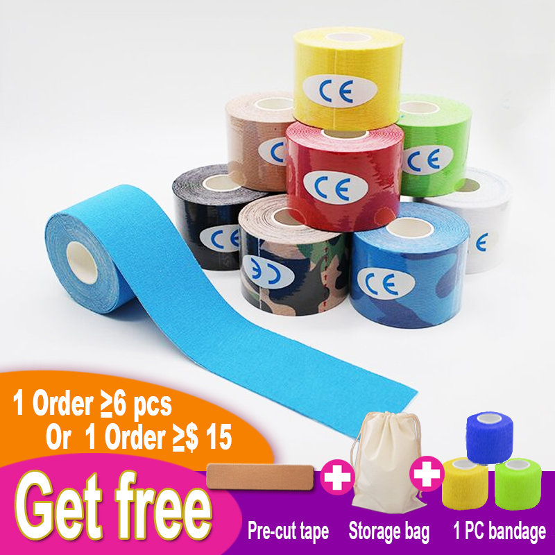 Kinesiology Tape Athletic Cotton Sport Recovery Tape Gym Fitness Tennis Running Knee Elastic Adhesive Sports Muscle Protector