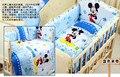 5 unids/set baby bedding sed 100*60 cm cortina de algodón cuna parachoques parachoques cuna juegos de cama de bebé de dibujos animados diseño