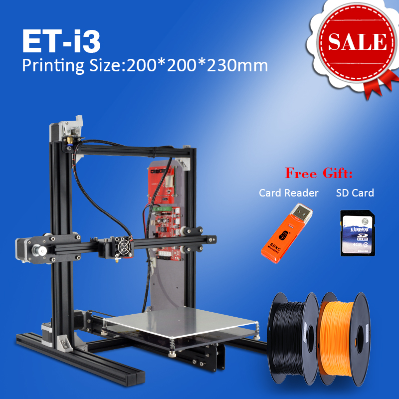 2016 Free Shiping DIY 3D Printer Kit Full Metal Large Printing Size High Quality Precision Free Gift Dual Extruder Double Nozzle