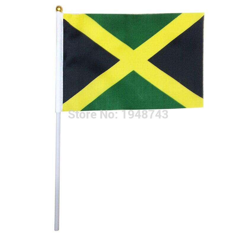 இ2017 10 قطع صغيرة جامايكا العلم 14*21 سنتيمتر جامايكا العلم اليد