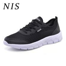 NIS Plus Size Sneakers Men Shoes Lightweight Breathable Mesh Men Vulcanized Shoes Casual Sports Running Sneakers Size Eu39-EU48