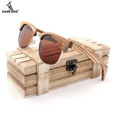 BOBO VOGEL Marke zebrastreifen Design Luxus Sonnenbrille Frauen Bambus Holz Handgefertigte Sonnenbrille Mann Mode Vintage Stil 2017