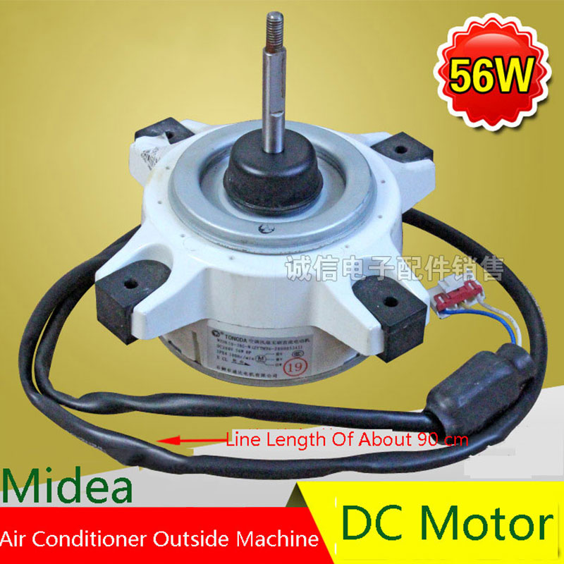 56W Air Conditioning Fan DC Motor Original For Midea  Air Conditioning Parts 95% new original for midea air conditioning fan motor ydk36 4c a ydk36 4g 8 4g 8 36w direction of departure