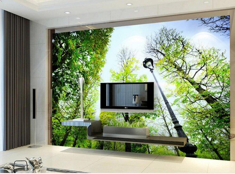 Dekoration Badezimmer 3d Wallpaper Natur Wald Wand Mural Fototapete