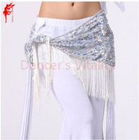 New Style Belly Dance Costumes Mesh Sequins Tassel Belly Dance Hip Scarf For Women Belly Dancing