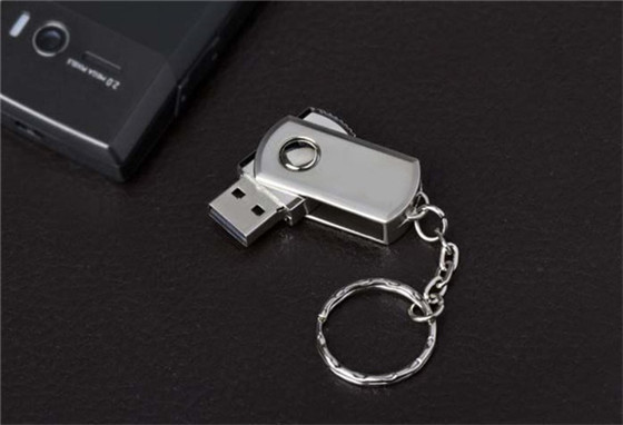 hot selling Metal waterproof USB 2.0 Flash Drive 8g 32g 64g spin Memory Stick 4g 16g Thumb/Pendrive key U Disk creative Gift