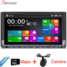 "Top 7"" Two Din Wince Car DVD Audio Radio For Universal With GPS Map Stereo Bluetooth Multimedia Reverse Camera"