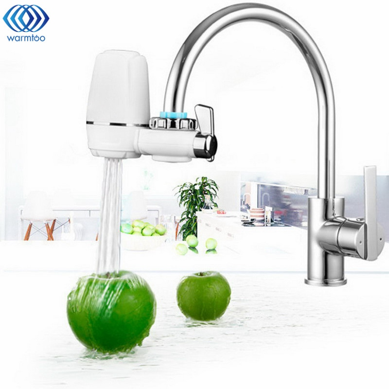 Water Filter Tap Washable Ceramic Mount Water Purifier Faucets Filters System Home Bathroom Kitchen Product kitchen faucets tap water filter household water purifier washable ceramic percolator mini water purification