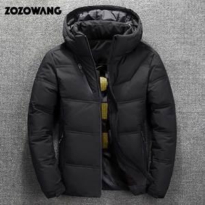 Image 3 - ZOZOWANG Hohe Qualität Weiße Ente Dicke Daunen Jacke männer mantel Schnee parkas männlichen Warme Marke Kleidung winter Unten Jacke Oberbekleidung